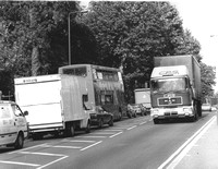 005410 BlH, eastwards,traffic jam,c1985